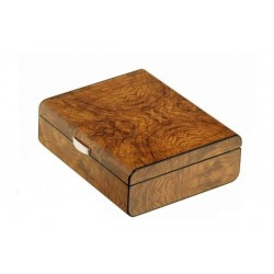 Humidor in Elm wood matt for 25 cigars