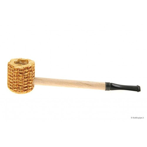 """Short Stop"" Corn Cob little pipe - black"