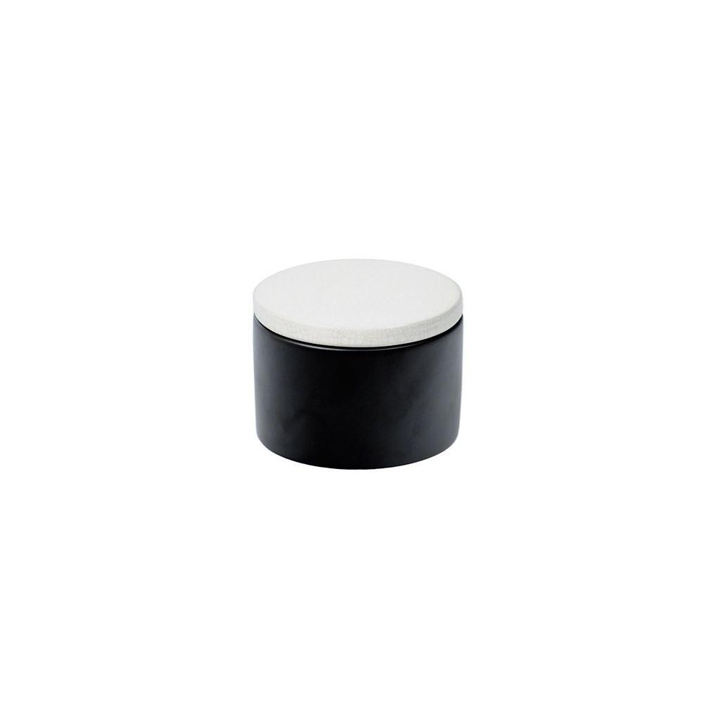 Pot en céramique cylindrique - Noir et Blanc