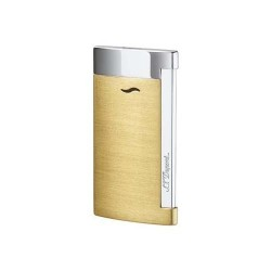 S.T. Dupont Slim 7 Jet Flame Lighter - Brushed Gold