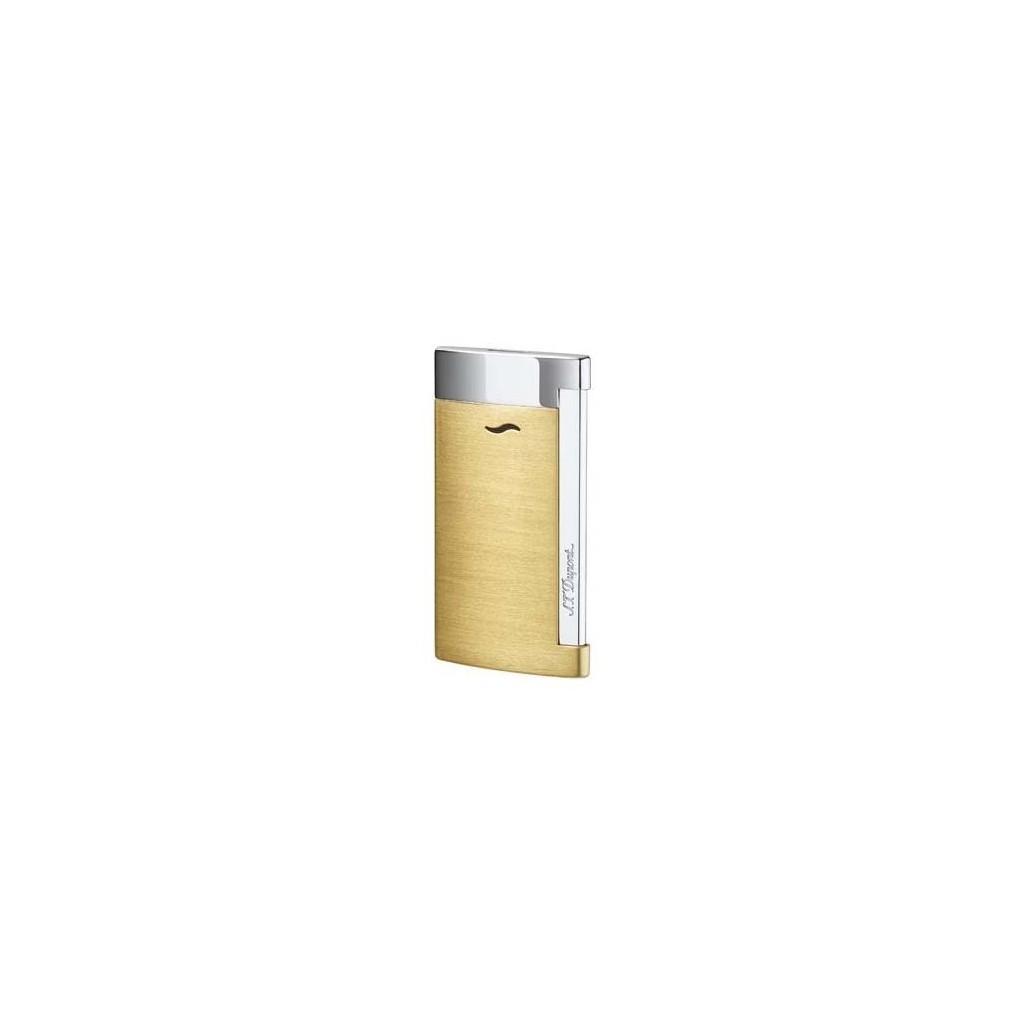 S.T. Dupont Slim 7 Jet Flame Lighter - Brushed Gold
