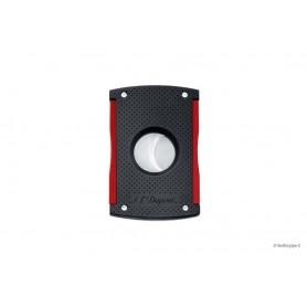 Cortacigarros S.T.Dupont MaxiJet dobla hoja- laca negra & rojo