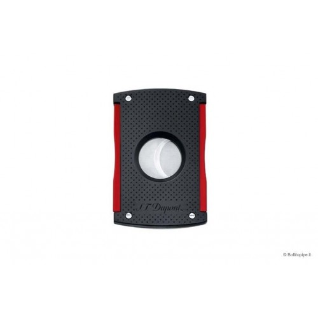 S.T. Dupont tagliasigari MaxiJet doppia lama - lacca nera & rossa