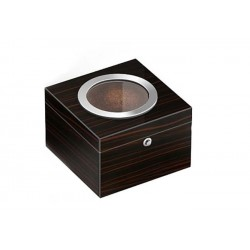 Cubo tobacco jar - Ebony