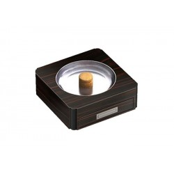 Pipe-ashtray with drawer - ebony