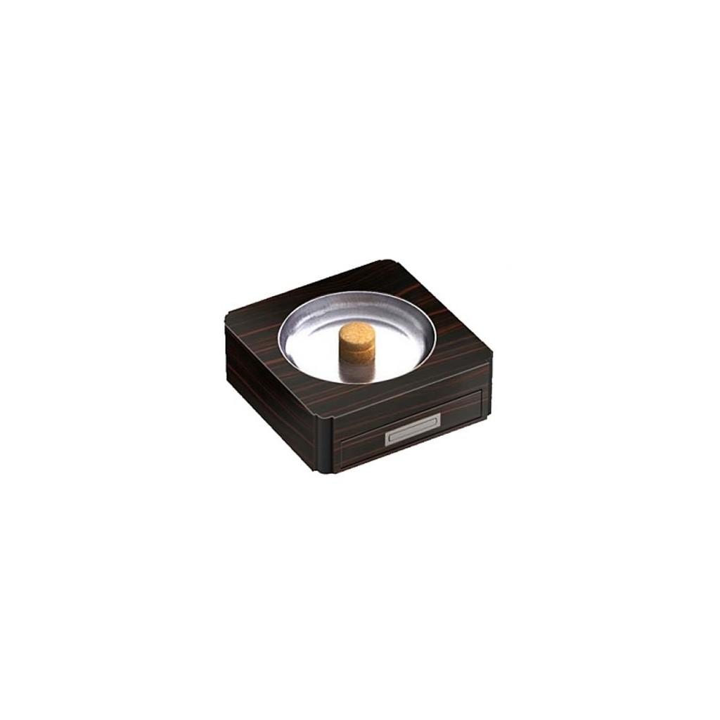 Pipe-ashtray with drawer - ebony