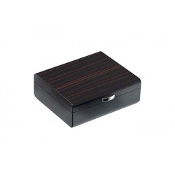 Humidor in ebony wood matt for 25 cigars
