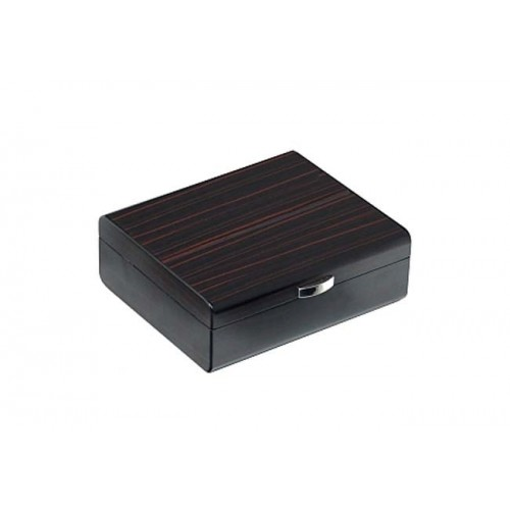 Humidor in ebony wood matt for 25 cigars