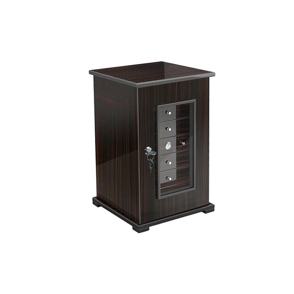 Cigar cabinet 7 drawers - ebony matt