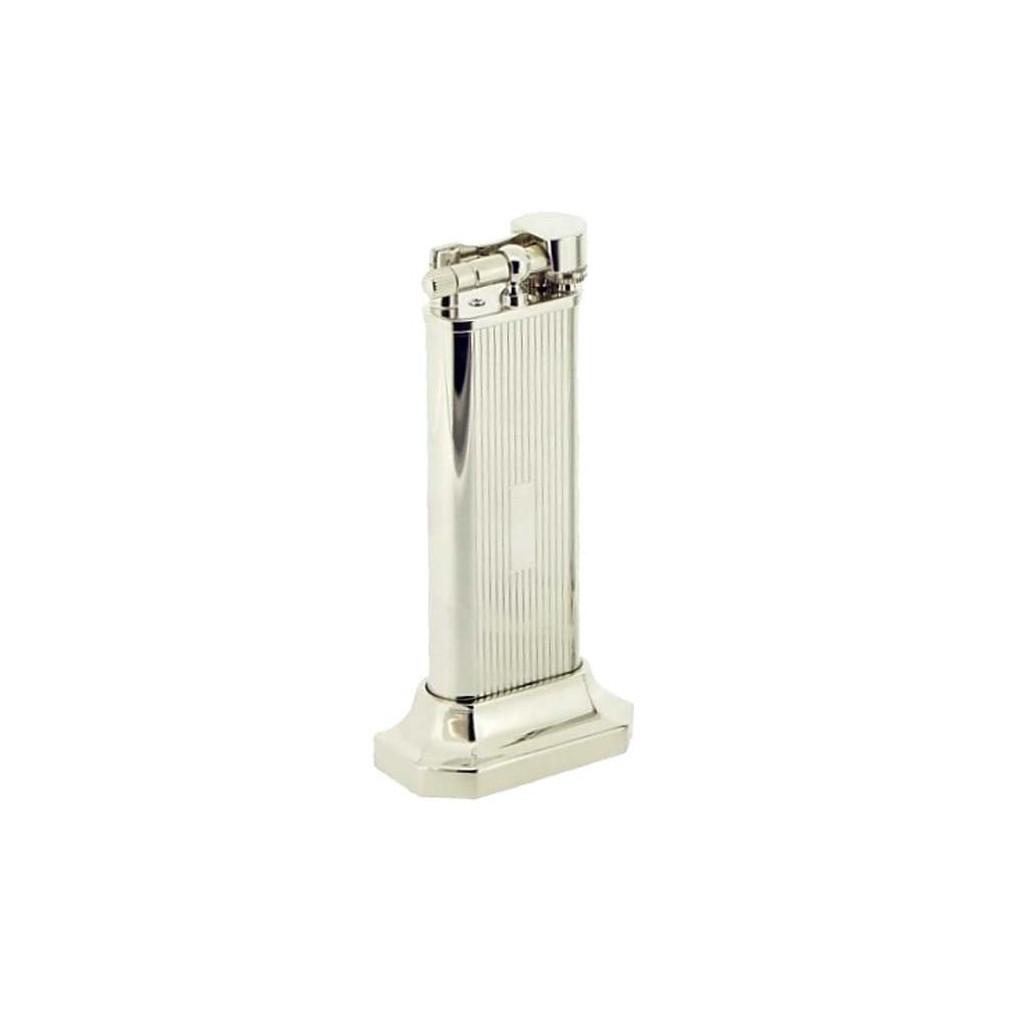 Accendino da tavolo placcato argento - righe verticali