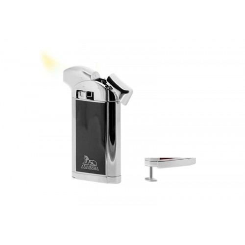 "Piezo Pipe Lighter ""Piper's delight"" - chrome black"