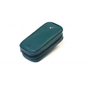 Bolsa en piel para 3 pipas y accessorios - Verde