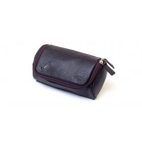 Bolsa en piel para 2 pipas y accessorios - Marròn