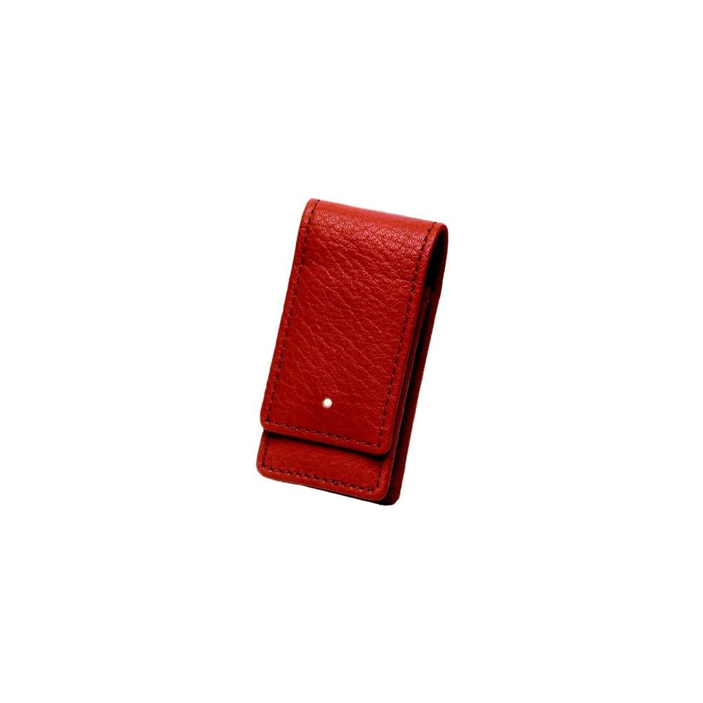 Dunhill Whitespot Leather Lighter Case - Tan