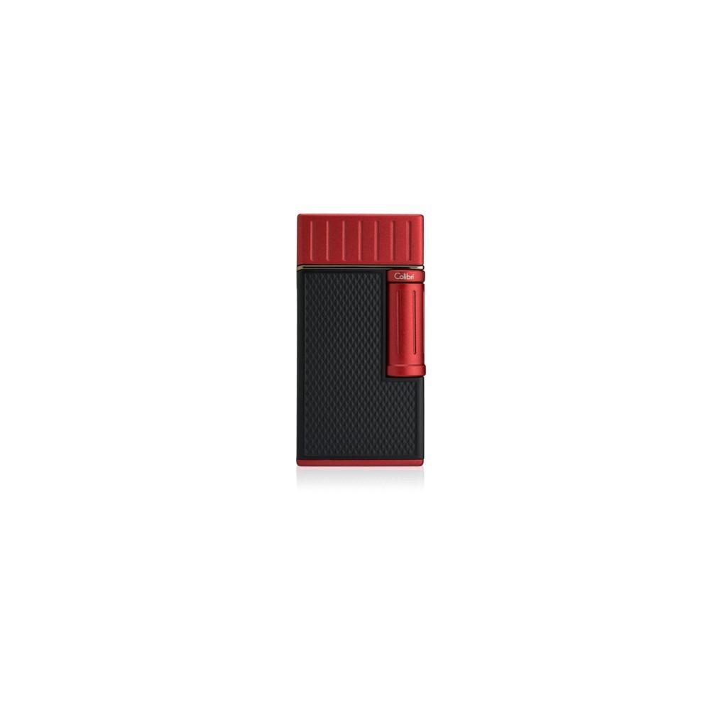 Accendino Colibri Jiulius - Nero/Rosso - fiamma sigaro-pipa