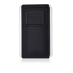 Colibri 3 - Jetflame Lighter Astoria - black matt and polished chrome finish - with cigar cutter
