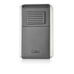 Colibri 3 - Jetflame Lighter Astoria - Gunmetal & Chrome finish - with cigar cutter