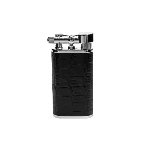 "Tsubota Pearl ""Stanley"" pipe lighter - Black leather"