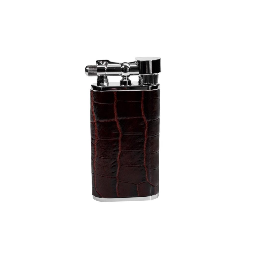 "Tsubota Pearl ""Stanley"" pipe lighter - dark leather"