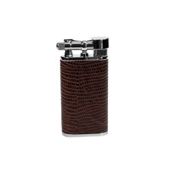 "Tsubota Pearl ""Stanley"" pipe lighter - brown leather"