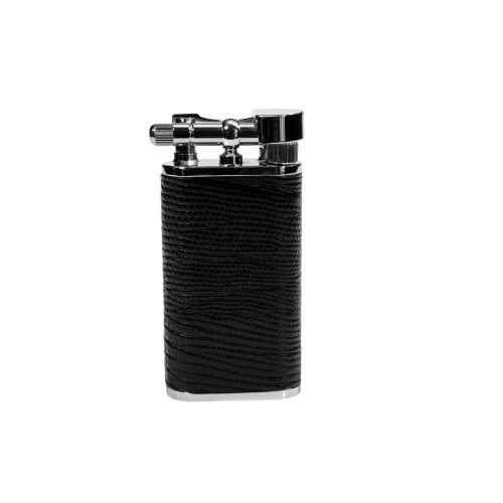 "Tsubota Pearl ""Stanley"" pipe lighter - black leather"