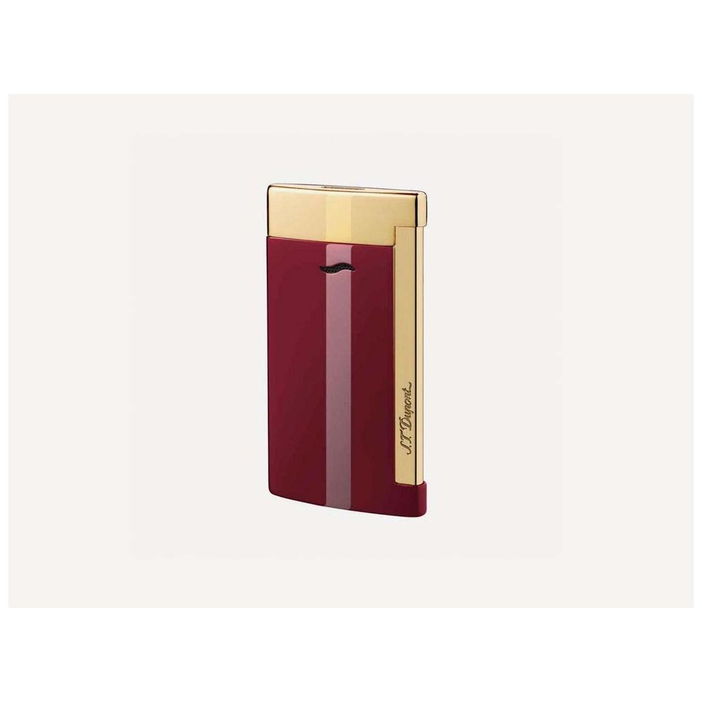 Accendino Jet Flame S.T. Dupont Slim 7 - Rosso/Oro