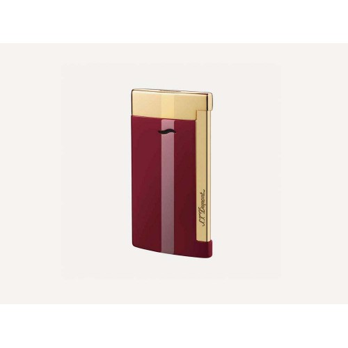 S.T. Dupont Slim 7 Jet Flame Lighter - Red/Gold