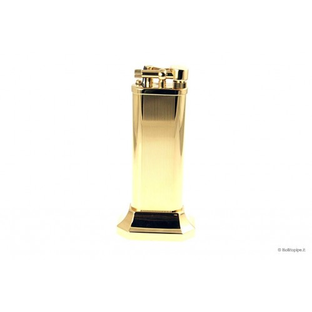 Accendino Dunhill Unique da tavolo Linee verticali placcato oro - Limited Edition