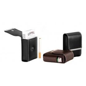 Nappa cigarette pack & lighter holder