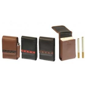 Portapacchetto in nappa morbida e decoro con magnete