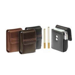 "90-100 mm cigarette soft nappa ""Red Line"" pack with magnet"
