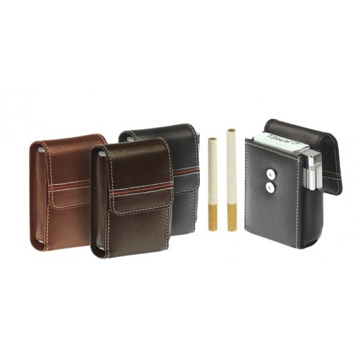"""90-100 mm cigarette soft nappa """"Red Line"""" pack with magnet"""