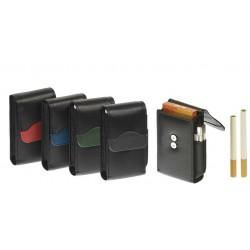 "90-100 mm cigarette nappa ""Wave"" pack with magnet"