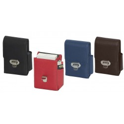 Nappa cigarette pack case with clasp