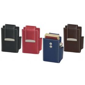 Portapacchetto per sigarette 100's in nappa con flap