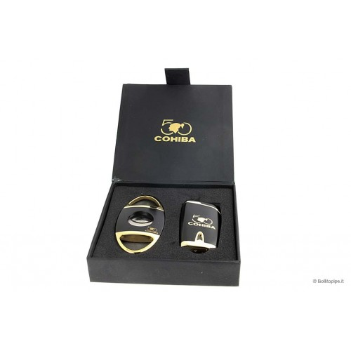 Cohiba 50th Anniversary Gift Pack - Cigar Cutter & 4 Jet Flame Lighter