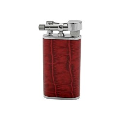 "Tsubota Pearl ""Stanley"" pipe lighter - Red leather"
