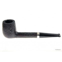 Gilli Pipe - Canadian - sandblast * * * with silver band