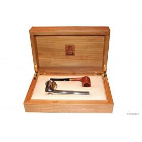 Castello Collection con portapipe in argento - con scatola in legno