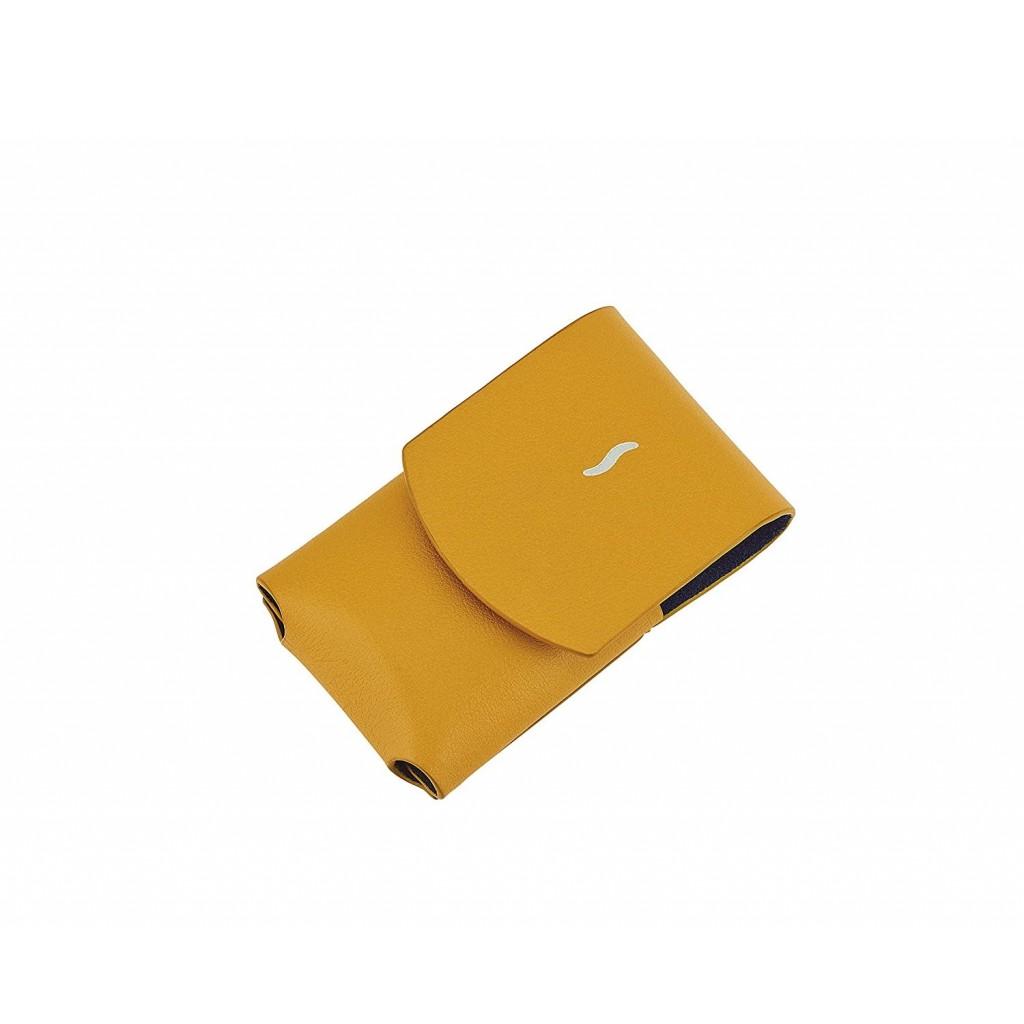 S.T. Dupont Minijet Lighter Case Leather - Yellow