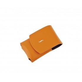 Custodia in pelle per S.T. Dupont MiniJet - Arancione