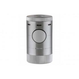 Briquet pour cigare Xikar Volta - 4 jetflame - Silver