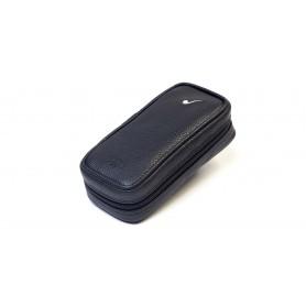 Bolsa en piel para 3 pipas y accessorios - Negro