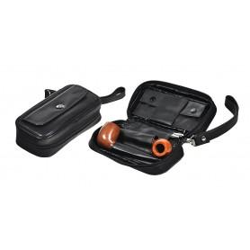 Trousse en piel para 2 pipas, tabaco y accessorios Magnet Line