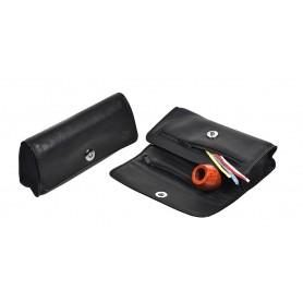 Bolsa en piel para 2 pipas, 2 tabacos y accessorios Magnet Line