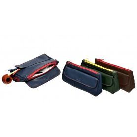 Borsa in nappa per pipa, tabacco e accessori ColorZip con patta