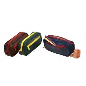 Trousse en piel para 2 pipas, tabacos y accessorios ColorZip