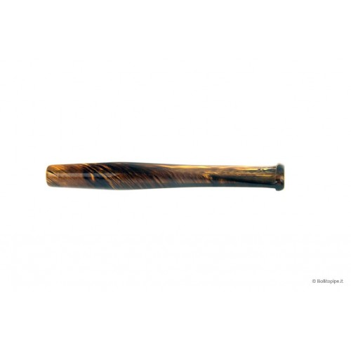 """Acrylic """"Dark Amber"""" mouthpiece for corncob pipes - Straight"""
