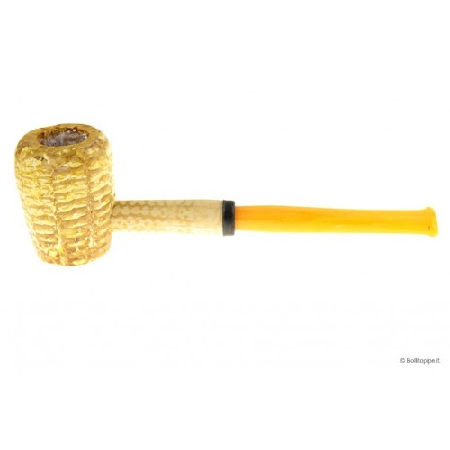 Legend Corn Cob little pipe - Straight - with acrylic mouthpiece