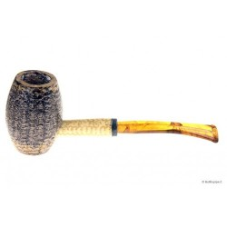 "Pipa Missouri Meerschaum in pannocchia ""Bent Country Gentleman"" con bocchino in metacrilato"